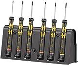Wera 05030180001 1550/6 ESD destornilladores para usos electrónicos + Bandeja, Juego de 9 piezas