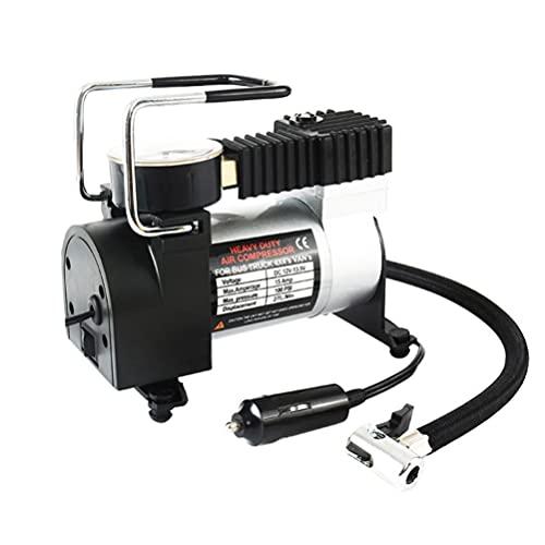 VICASKY Inflador de Neumáticos de Metal Duradero de Un Cilindro Bomba de Aire Compresor de Aire Inflador de Neumáticos para Motor de Coche