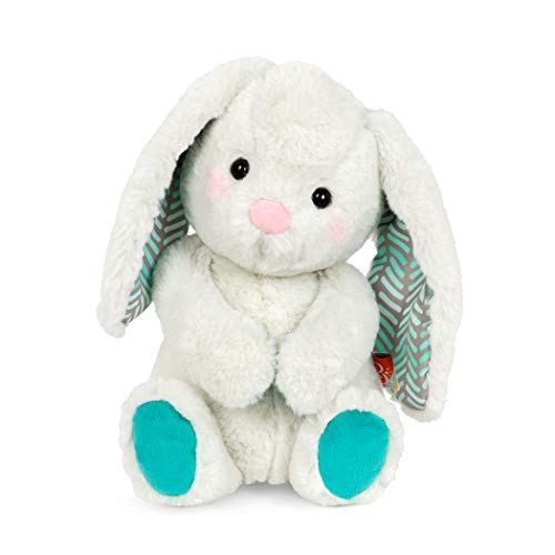 B. Toys – Happy Hues – Peppy-Mint Bunny – Soft & Cuddly Plush Bunny – Huggable Stuffed Animal Rabbit Toy – Washable – Babies, Toddlers, Kids