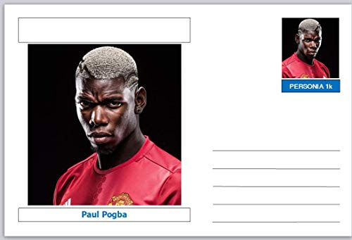 Personalities - souvenir postcard (glossy 6' x 4' [15cm x 10cm] card) - Paul Pogba - unused and superb SPORT FOOTBALL 405513