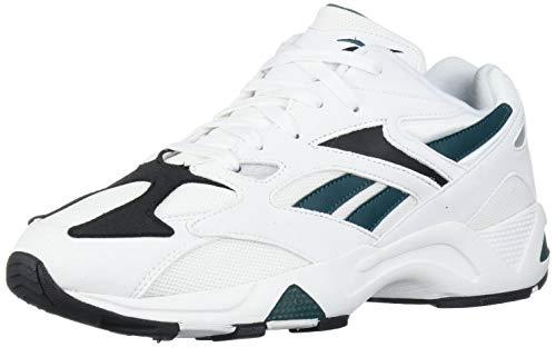 Reebok AZTREK 96 Sneaker, White/Rapid Teal/Black, 10 M US