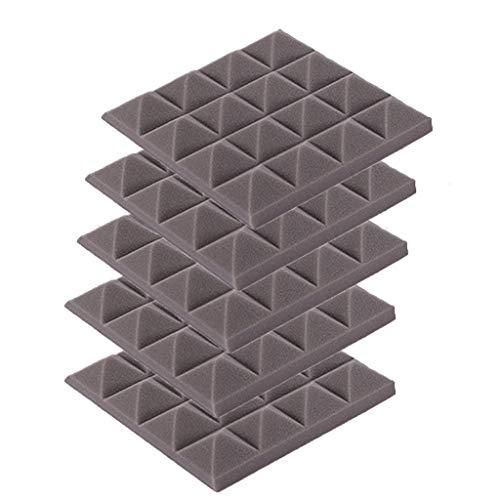 BRISEZZ akoestisch schuim platen geluid eindabsorptie spons Studio KTV geluidsdicht 5 stuks (25cmx25cmx5cm) 25cmx25cmx5cm grijs