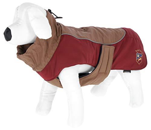 """Kerbl Hundemantel """"Royal Pets"""", Trendiger Mantel für Hunde mit reflektierenden Paspeln, stufenlos verstellbar, Längen 30 – 50 cm (M (40 cm))"""