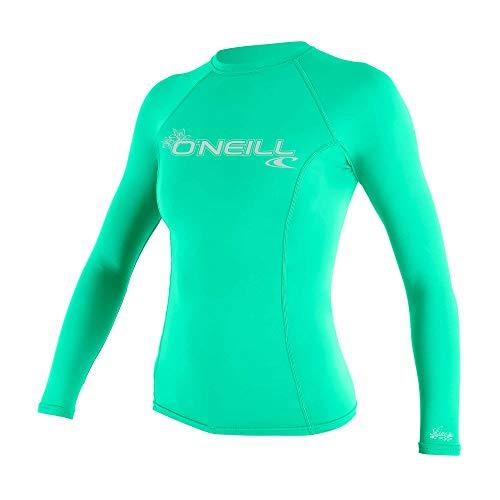 O'Neill Wetsuits UV-Sonnenschutz für Damen, langärmelig, Rundhalsausschnitt, Rashguard aus Seeglas, Größe XS