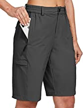 FitsT4 Women's Lightweight Hiking Shorts Quick Dry Cargo Shorts Sun Protection Water Resistant with Multi Pockets Black Size XL
