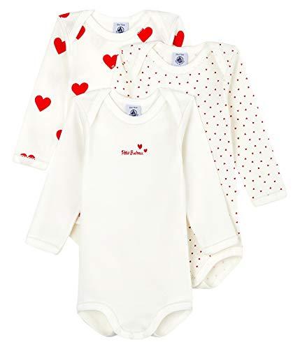 Petit Bateau A00BC00 Underwear Lot de 3 Bodies pour Bébé filles Naissance - Multicolor - 24 mois