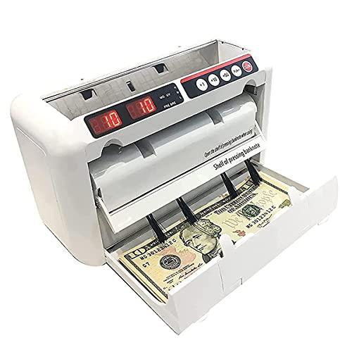 Bankbiljet Teller, Geld Vals Geld Detector Currecy Machine Met Telling, Vooraf in Te Stellen, Het Toevoegen Van Functies, Dual Led Display Snelle Bill Teller Voor Bank Bedrijf