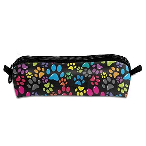 Caja de lápiz colorida de la pata del perro Bolso de la bolsa del sostenedor del lápiz de la oficina Bolso de la bolsa de cosméticos de los efectos de escritorio del lápiz de la pluma