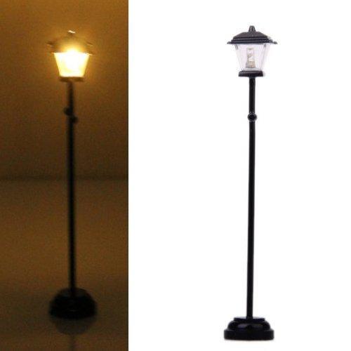 SODIAL(R) Lampadaire LED Miniature pour 1/12 Maison de Poupee - Noir