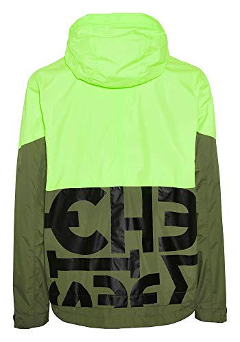Chiemsee Jacke Jacket, Green/Yellow, XL Homme
