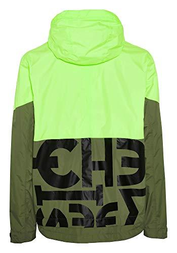 Chiemsee Jacke Giacca, Verde/Giallo, XL Uomo