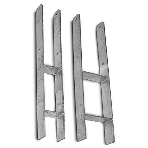 IHD H-drager van thermisch verzinkt staal | Materiaaldikte: 5,5 mm | Boringsdiameter: 11 mm