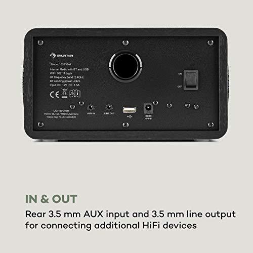 auna Connect 100 SE - Internetradio, Mediaplayer, Bluetooth, WLAN: Netzwerkplayer, App-Control, 2,4