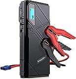 Imazing Auto Starthilfe,1500A Spitzenstrom Tragbare Autobatterie Anlasser Sofort Starthilfe Externer Akku Ladegerät mit 2 USB Ausgänge,LED Taschenlampe,für Notfall Car Jump Starter