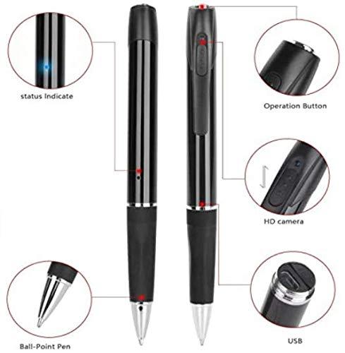 Mini Stift Kamera- Spionage Kamera Stift -Überwachungskamera Verdeckte HD 1080P Kugelschreiber Kamera mit Loop Aufnahme Videorecorder 2.5 Stunden Videoaufnahme mit 32GB Speicher Überwachungskamera
