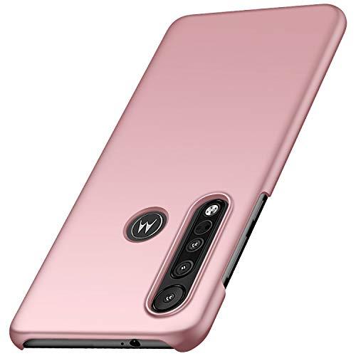 anccer Kompatibel mit Motorola Moto One Macro Hülle [Serie Matte] Elastische Schockabsorption & Ultra Thin Design für Moto One Macro (Glattes Rosen Gold)
