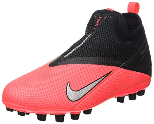 Nike Phantom Vision 2 Academy DF AG, Zapatillas de Fútbol Unisex Adulto, Rojo (Laser Crimson/Metallic Silver/606), 37.5 EU