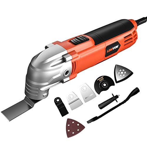 Review Oscillating Multi-Tool, Lomvum 2.3A Oscillating Tool Variable Speed 3°Oscillating Angle 2300...