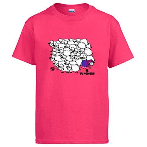 Diver Bebé Camiseta Parodia la borregada del fútbol de Barcelona Personalizable con Nombre - Rosa, L