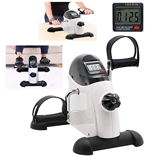 2-in-1 mini-fietstrainer, arm en leg, pedaal, exerciser met LCD-display, verstelbaar, voor fitnessbikes
