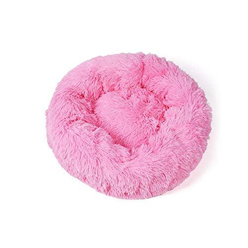 B/H Cama Perro Extra Grande Ortopédica,Mascotas,Arena para Gatos,Arena para Perros,Felpudo para Gatos,Engrosamiento de Invierno para Mantener el Calor y la Comodidad-S#_Bright Pink