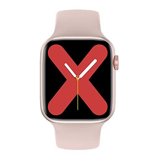 Smart Watch Herren Damenwabenwaben-weiblicher Anruf Sport 40mm 44mm Iwo 12 Smartwatch Herren IP68 wasserdichte Smart Clock iOS,Monsteramy (Color : Gold, Size : 40mm 1.54inch)