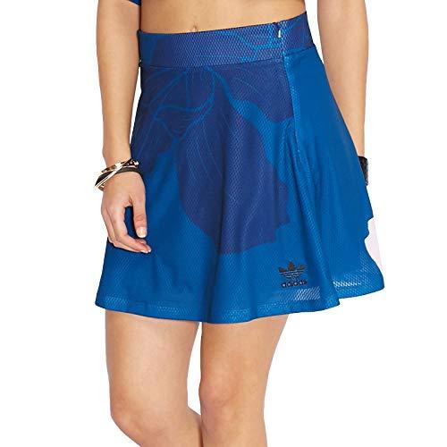adidas Originals Damen Rock mit Blumenmuster Blau