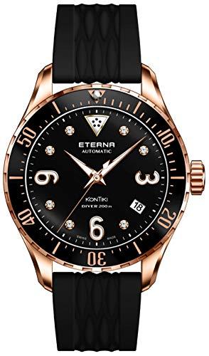 Eterna Lady KonTiki Diver Automatik Uhr, SW 200-1, PVD Roségold, Special Edition