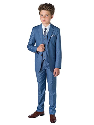 Paisley of London Jungen Anzug Gr. 6 Jahre, blau Chambray Blue