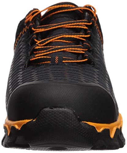 Timberland PRO Men's Powertrain Alloy Toe Black Synthetic/Orange Boot