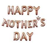 BaskDIUT Juego de globos para decoración del día de la madre, 40,6 cm, diseño de globo de aluminio para decoración de la habitación, regalo de cumpleaños de la madre, decoración de fiesta familiar