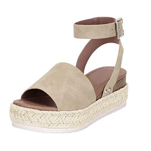 ciabatte spugna sandali pianta larga donna ciabatte donna zeppa arco plantar ciabatte bianche sposa sandali infradito donna bassi (G43-Khaki,38)