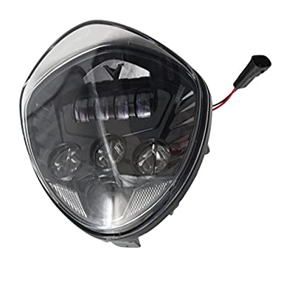 Angel Eye LED Headlight For 10-16 Victory Motorcycle Cruisers Cross Road Country