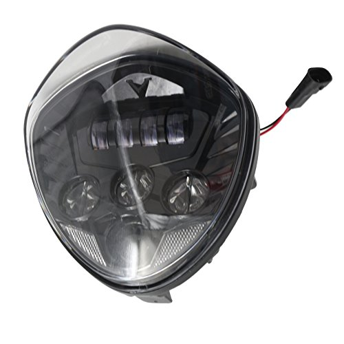 LED Headlight for Victory Motorcycle Cross Road Country Cruisers 2010-2016 (Black)