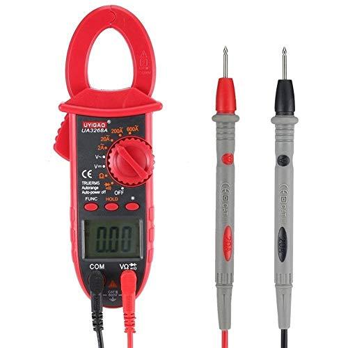 Medidor de pinza digital Multímetro AC/DC Voltio Ohm Resistencia Diodo Probador de continuidad con retroiluminación de datos UA3268A