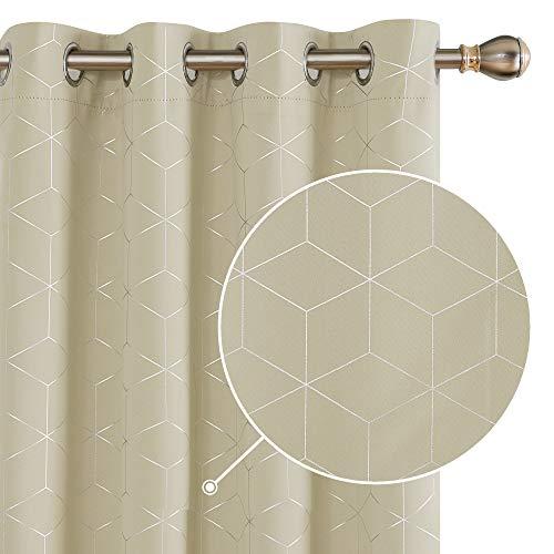 cortinas salon modernas 2 piezas beige