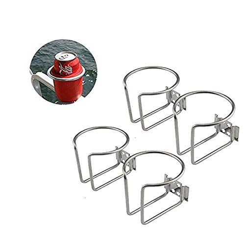 RUR 4pcs Stainless Steel Boat Ring Cup Drink Holder Universal Drinks Holders for Marine Yacht Truck RV Car Trailer Hardware