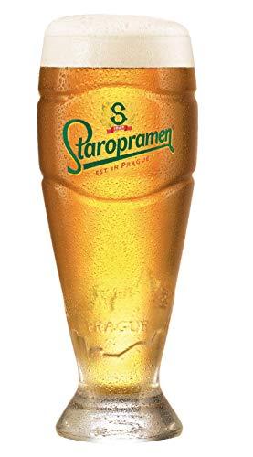 Staropramen Official Merchandise | 6er Gläser Set | Biergläser 0,3l l Geeicht | Original Tsechisches Bier | Tumbler | Perfekt für die Hausbar