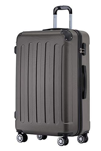 BEIBYE Hartschalen-Koffer Trolley Rollkoffer Reisekoffer Handgepäck 4 Rollen (M-L-XL-Set) (Coffee, L)
