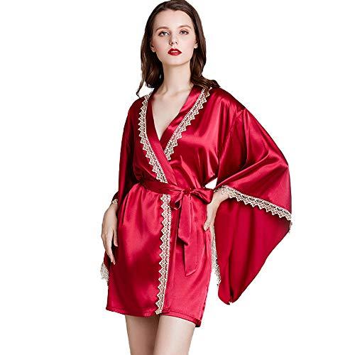 Noche vestido de verano de las señoras de seda con cuello en...