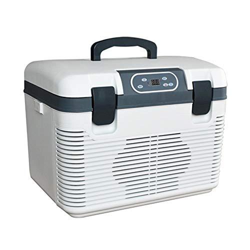 LCSD Mini Nevera Refrigerador electrónico de 19 litros con refrigeración Doble for Autos. Caja fría y Caliente de Doble Uso. Mini refrigerador pequeño for el hogar. Refrigeración portátil refrigerada