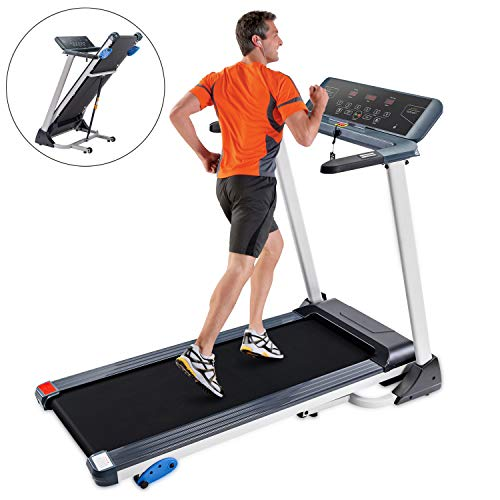 Folding Treadmill Electric Motorized Running Machine with Bluetooth, Speakers and Incline Treadmills