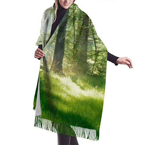 Shawl Wrap Blanket Scarf, Womens Winter Scarf Cashmere Feel Natural Forest...
