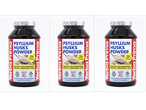 Yerba Prima Psyllium Husks Powder, 12 OZ 3 pk