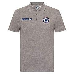 Chelsea FC Polo para Hombre Gris