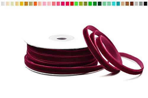 Creativery Samtband 6mm x 10m, Dunkel Bordeaux