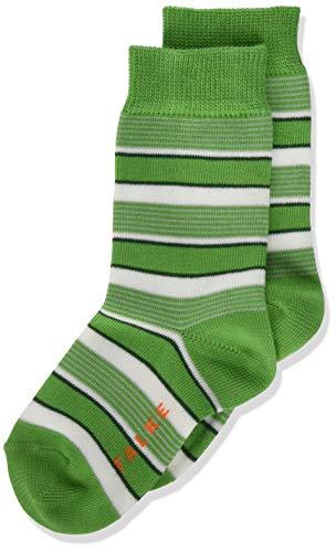 FALKE Unisex Kinder Mixed Stripe Socken, grün (fairway 7480), 31-34