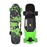 Dujie Monopatín eléctrico, control remoto inalámbrico, mini longboard Cruiser monopatín diseñado para principiantes y viajeros urbanos, color verde