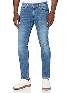 Wrangler Larston Denim Pants Pantalones, Blue Fire, 31W / 34L para Hombre