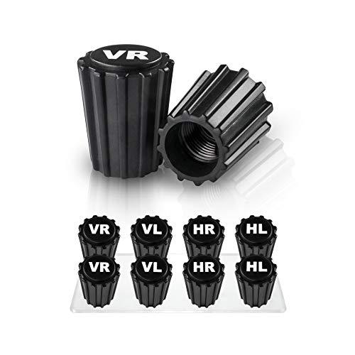JEFF Auto Ventilkappen im praktischen [8er Set] - Verlässliche Einlagerung Dank VR VL HR HL Beschriftung Profi Gadget zur Reifenmarkierung